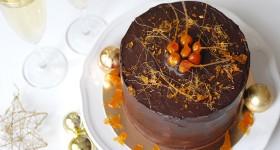 Čokoládový vánoční dort