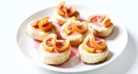 Vdolky s polevou z červených pomerančů