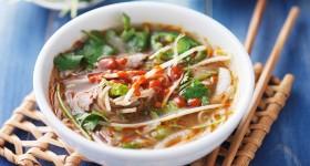 Vietnamská hovězí Pho polévka