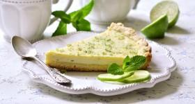 Limetkový koláč s mátou