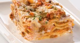 Lasagne somáčkou Bolognese a houbami