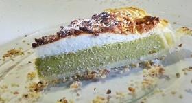 Tvarohový koláč s matcha