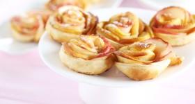 Pečené růže z jablíček