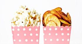 Domácí popcorn a chipsy
