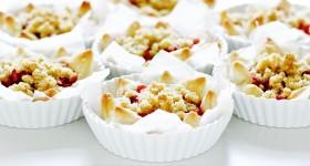 Jahodovo-rebarborové koláčky