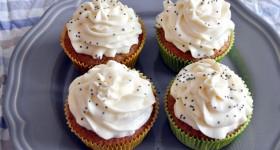 Cuketové cupcakes s citronem a mákem