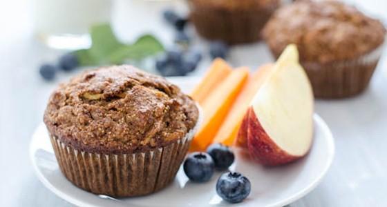 Zdravé celozrnné muffiny