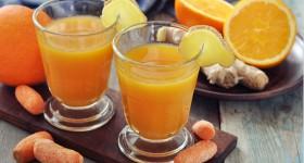 Mrkvové smoothie s pomerančem a zázvorem